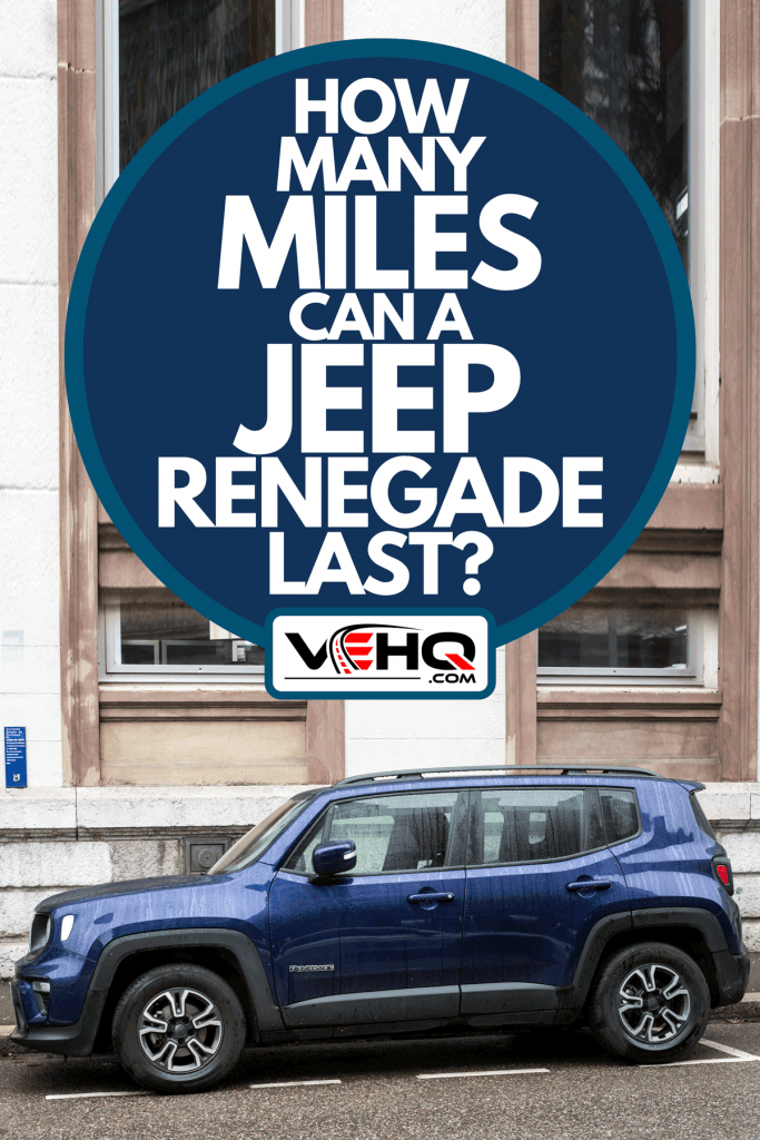 A blue Jeep renegade car parked in the street, How Many Miles Can A Jeep Renegade Last?