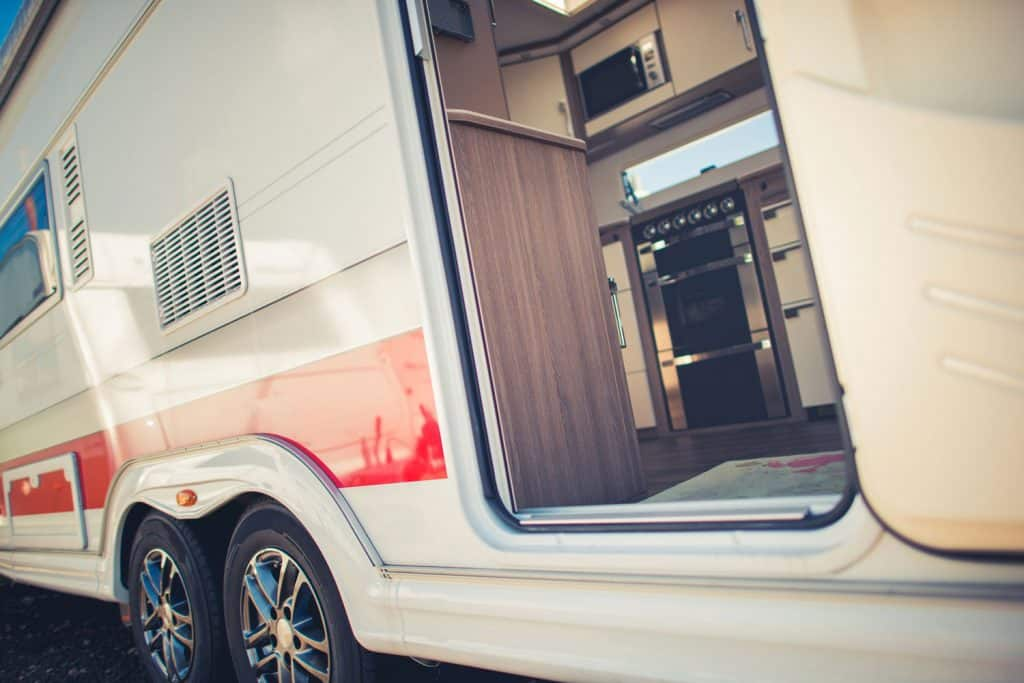 Modern Travel Trailer Camping Concept
