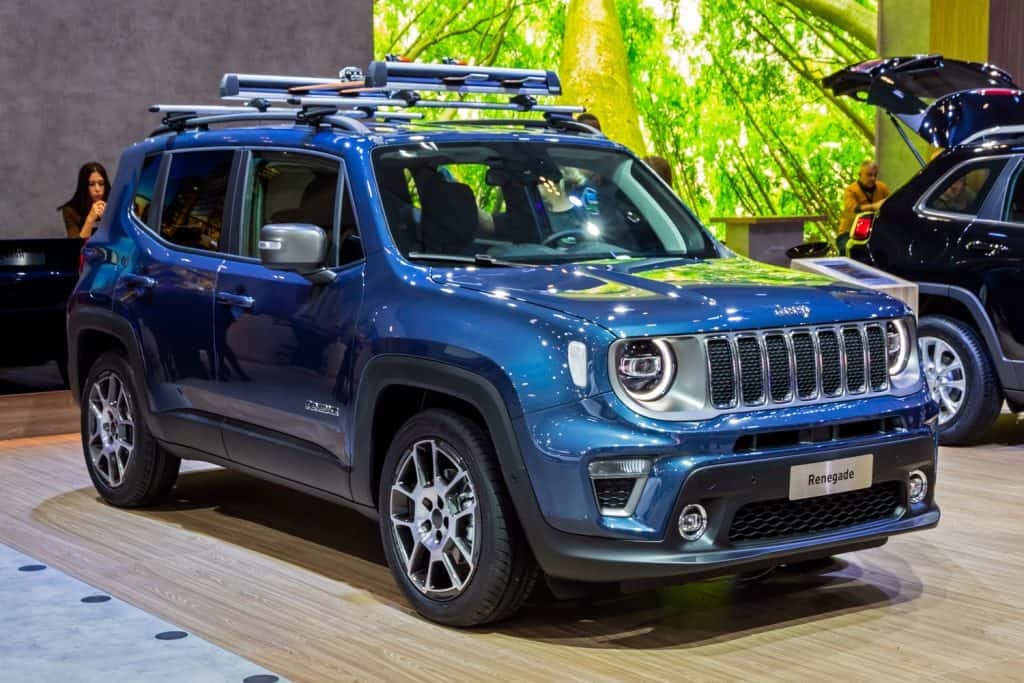 New Jeep Renegade compact SUV car model