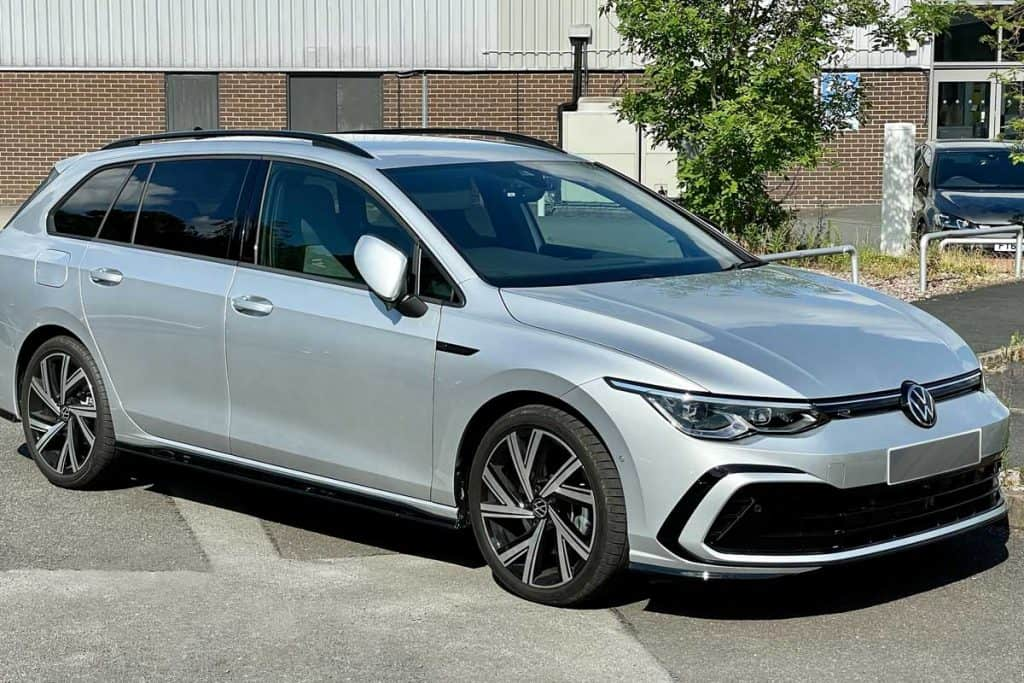 A new Volkswagen Golf Mk8 estate car at a dealership, Does The Volkswagen Golf Have Bluetooth?
