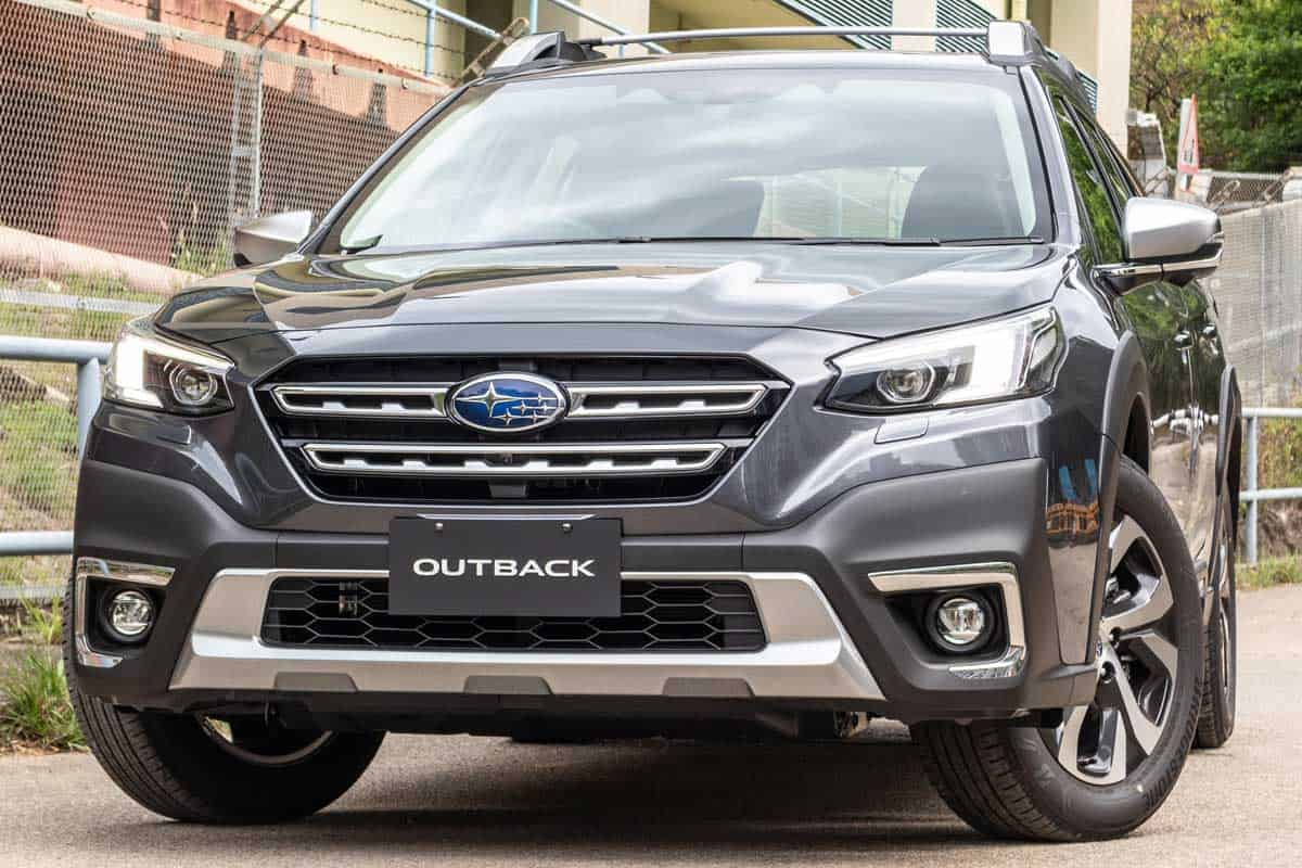 Subaru Outback parked outside a building ready for test drive