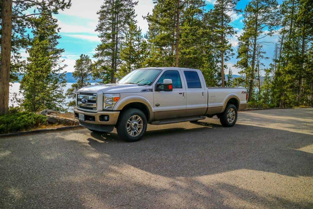 The F350 Ford parked along the preserve park, Do You Need A CDL To Drive A Ford F350 Truck?
