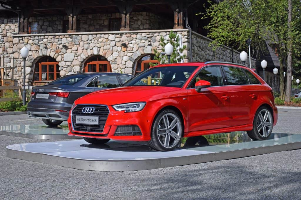 The presentation of Audi A3 vehicles after the facelifting. These vehicles are the ones of the most popular premium cars in the world.