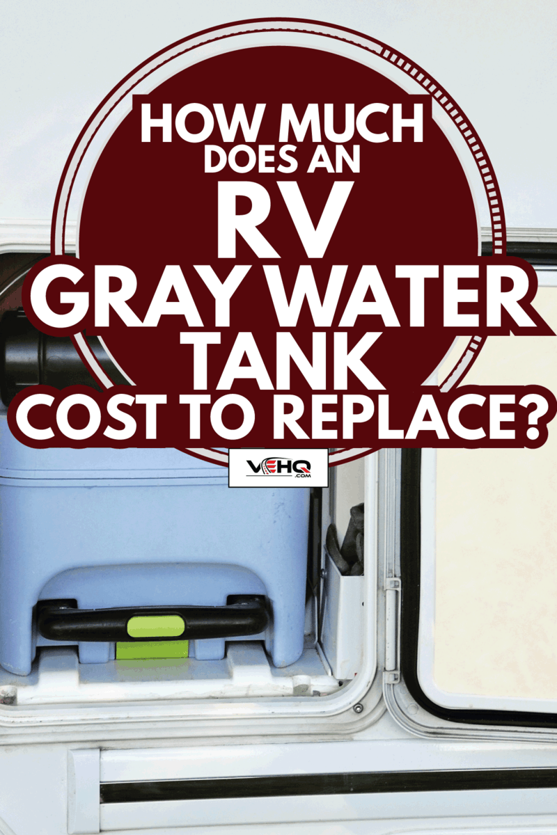 Toilet tank for the restroom inside a motorhome. How Much Does An RV Gray Water Tank Cost To Replace