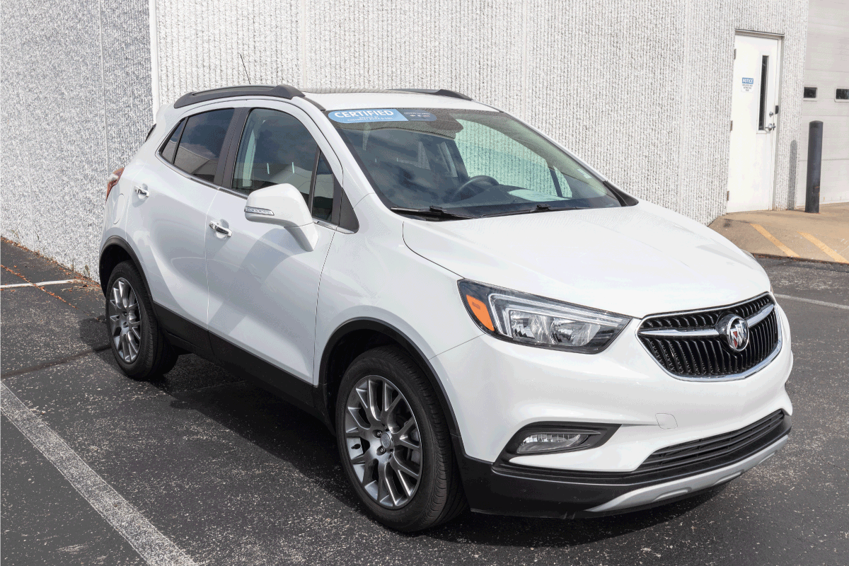 Used Buick Encore on display. With current supply issues, Buick is relying on Certified used car sales while waiting for parts. How Big Is A Buick Encore