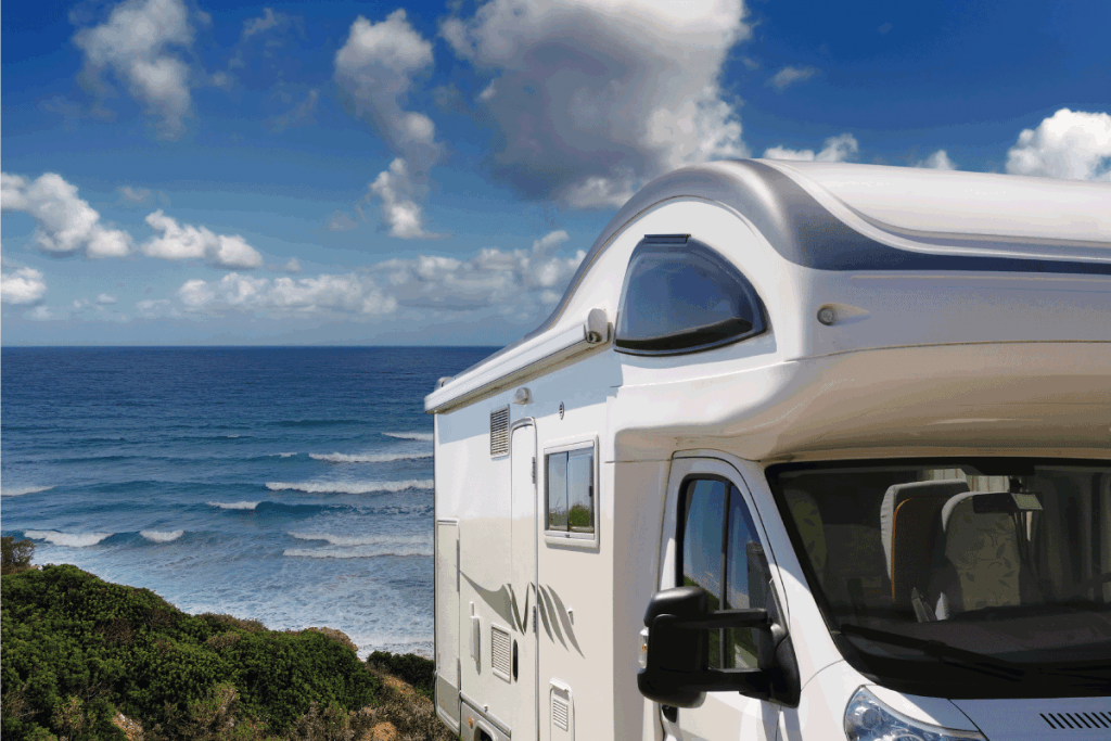 recreational-vehicle-parked-near-the-beach.-How-To-Make-A-Portable-Grey-Water-Tank-For-An-RV