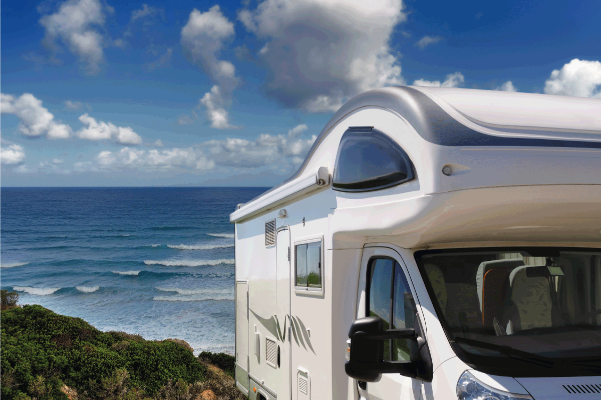 recreational vehicle parked near the beach. How To Make A Portable Grey Water Tank For An RV