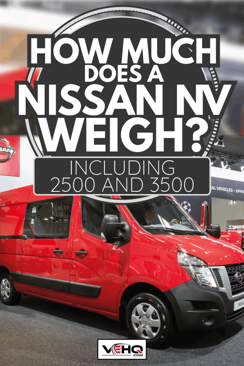 red nissan nv comfort panel van unveiled on an international motor show. How Much Does A Nissan NV Weigh [Inc. 2500 And 3500]