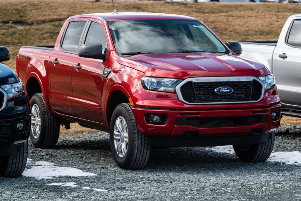 A 2020 Ford Ranger Pickup Truck at a Ford dealership.
