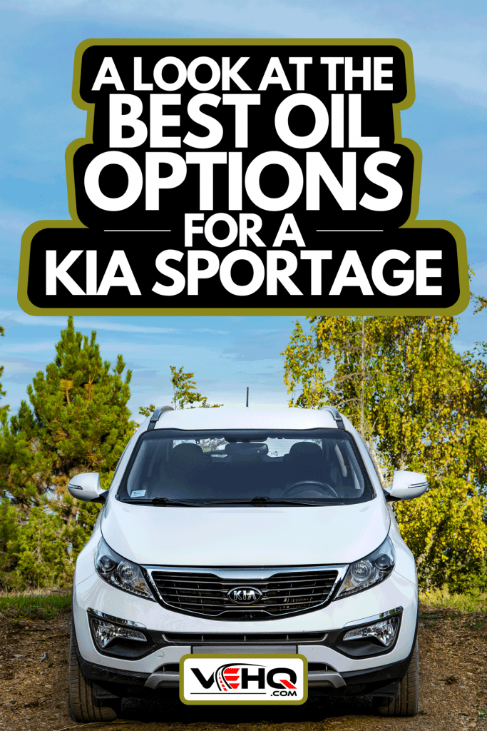 A Kia Sportage 2.0 CRDI parked in a dried coast lake, A Look At The Best Oil Options For A Kia Sportage