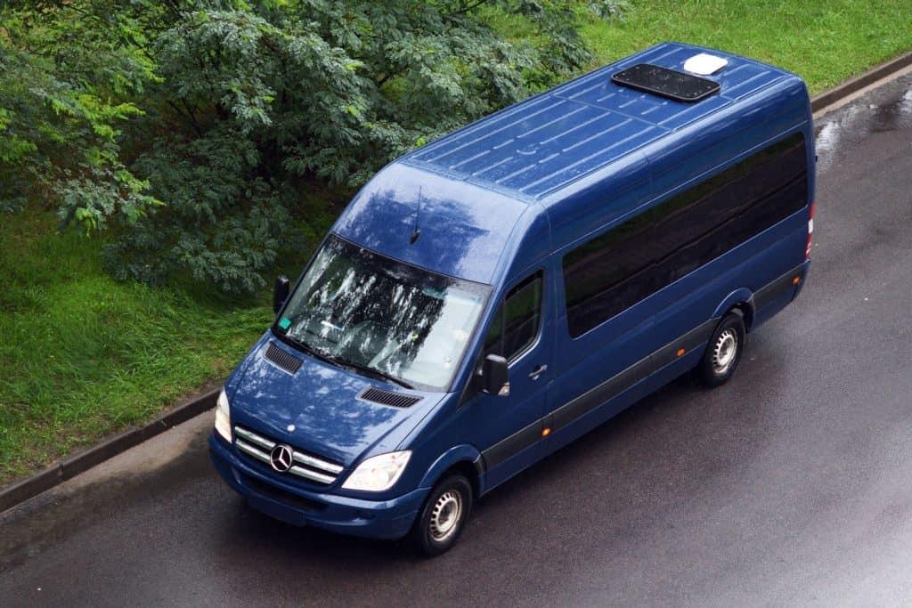 Blue passenger Mercedes-Benz Sprinter in Minsk