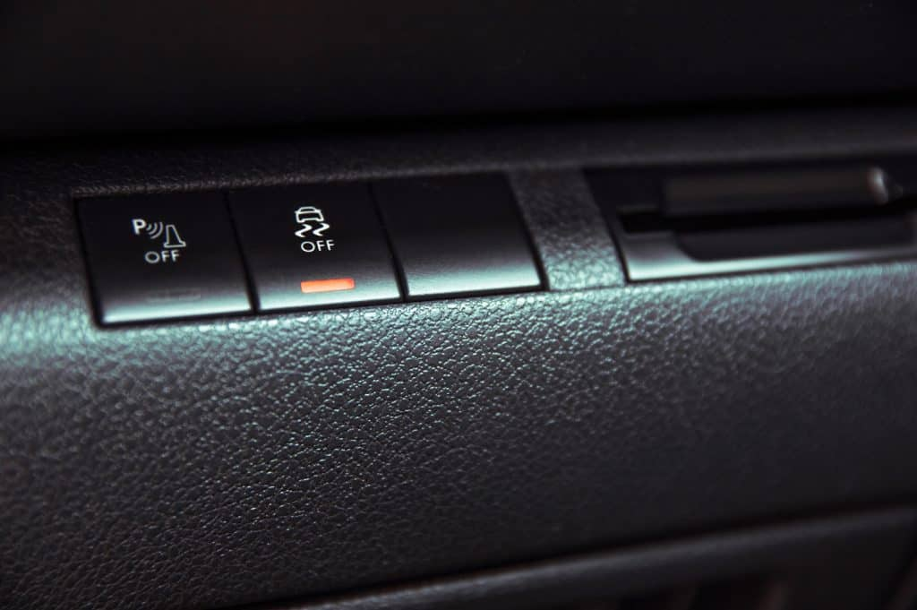 Button to disable traction control in the car