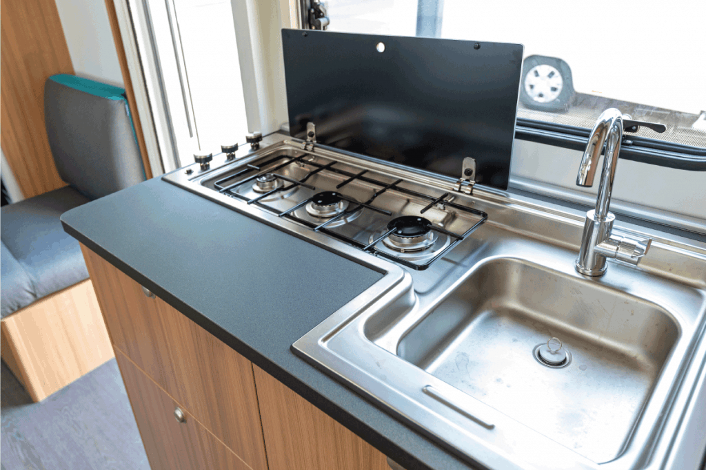 Compact Kitchen Counter in Modern Camper Van. RV Kitchen Faucet Not Working - What To Do