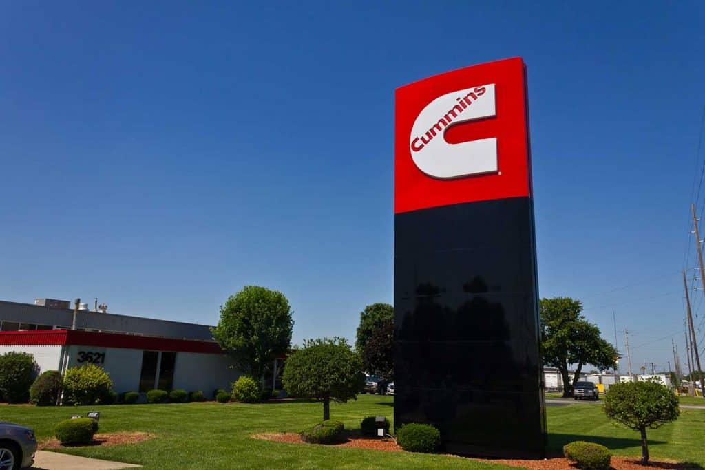 Cummins Inc. logo outside manufacturing company