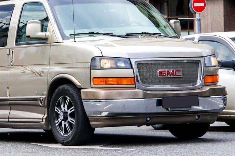 GMC Savana at the city street, How Much Can A GMC Savana 2500 Tow?