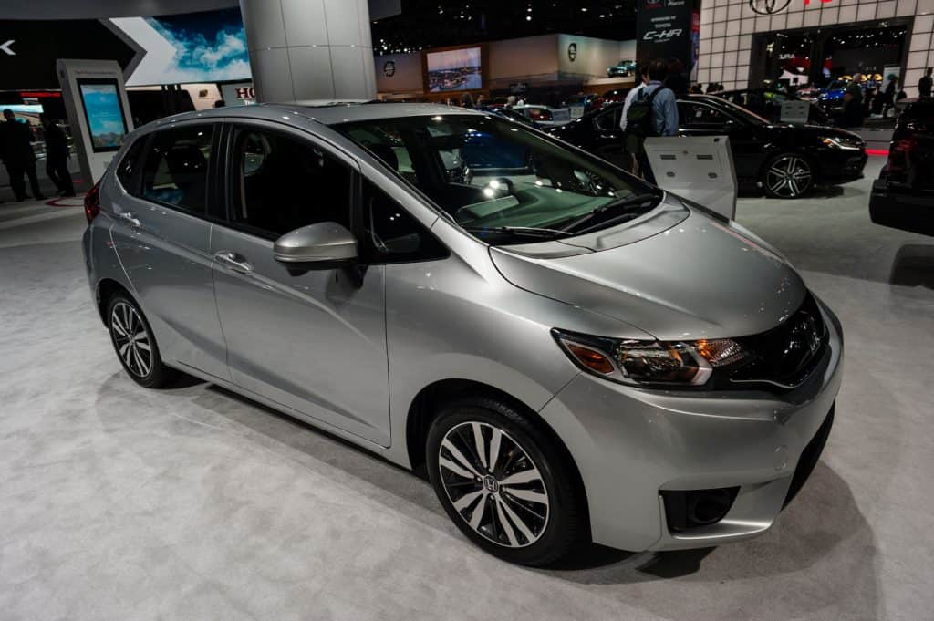 Honda FIT on display during the New York International Auto Show at the Jacob Javits Center