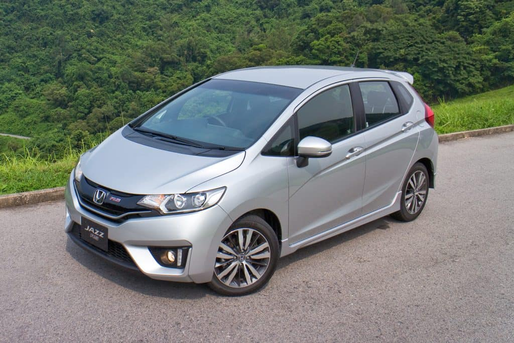 Honda Jazz Fit on the road