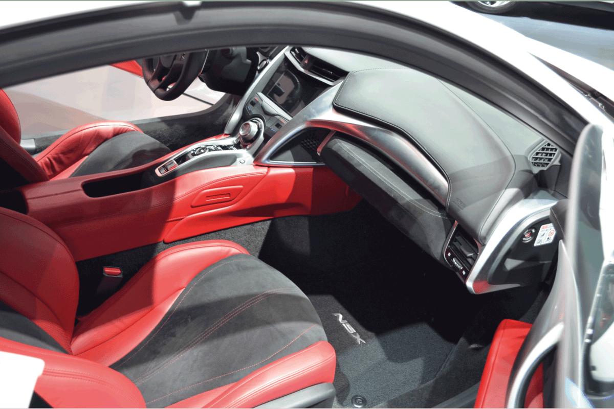 Honda NSX interior image shown at IAA