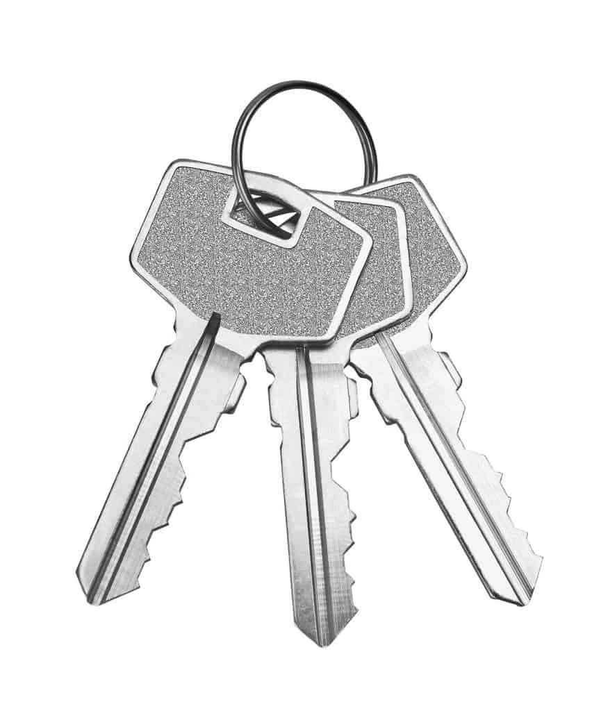 Image of three keys