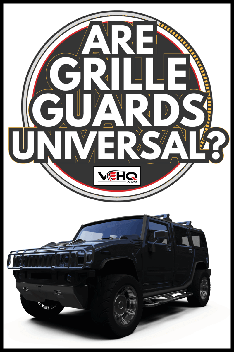 Isolated big jeep. Are Grille Guards Universal