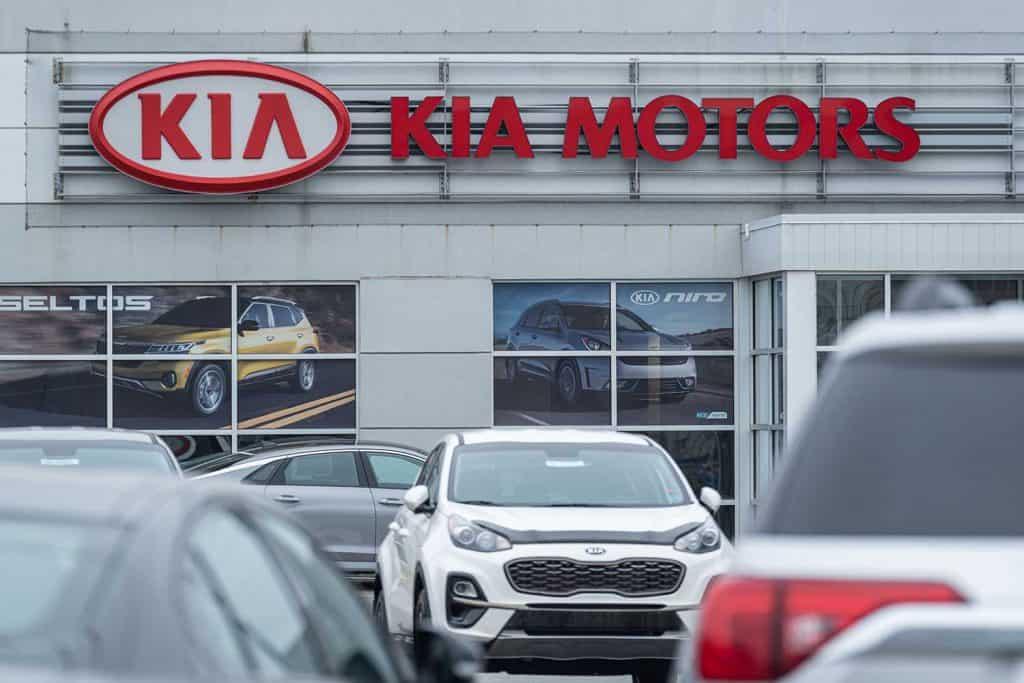 Kia Motors car dealership in the city