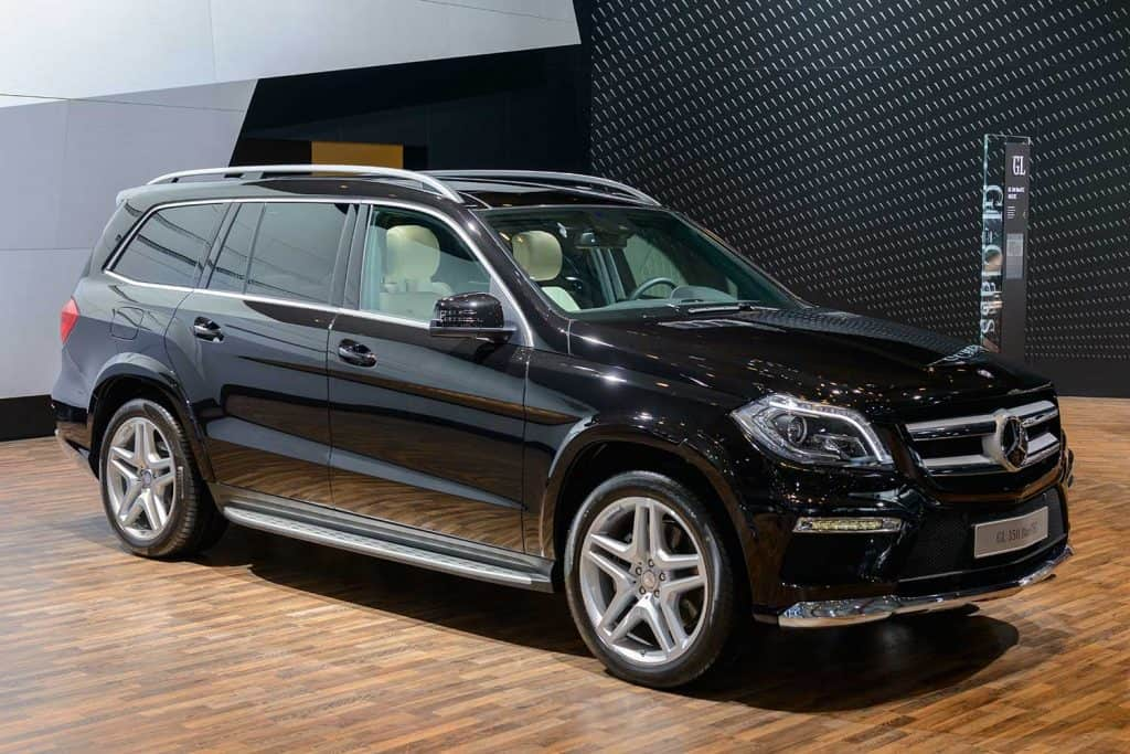 Mercedes-Benz GL-Class SUV on display at motor show