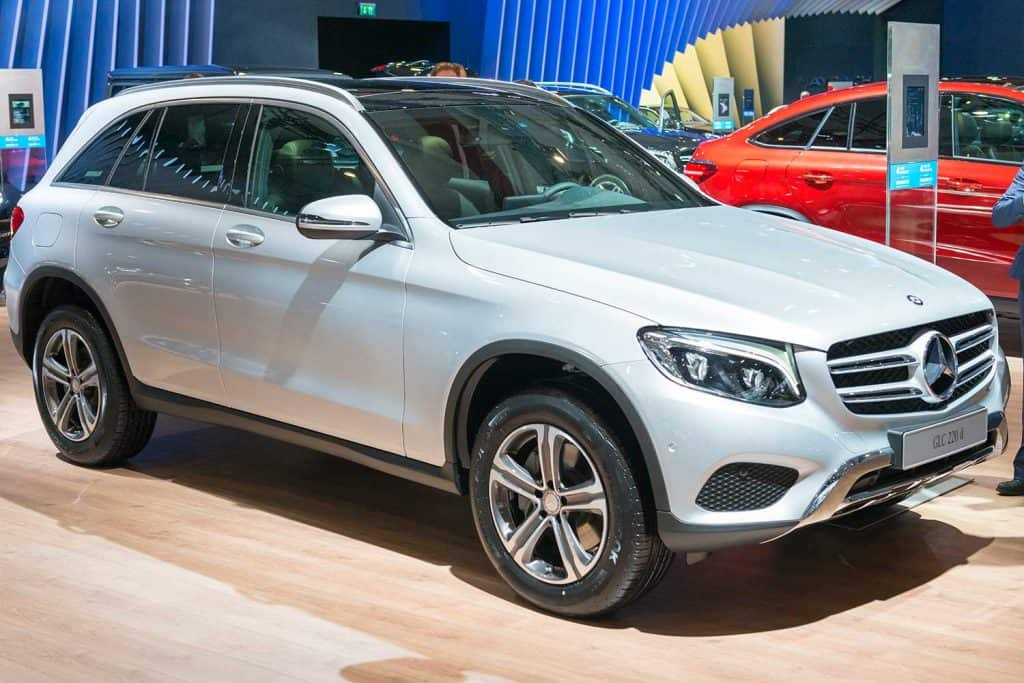 Mercedes-Benz GLC-Class compact SUV on display during motor show