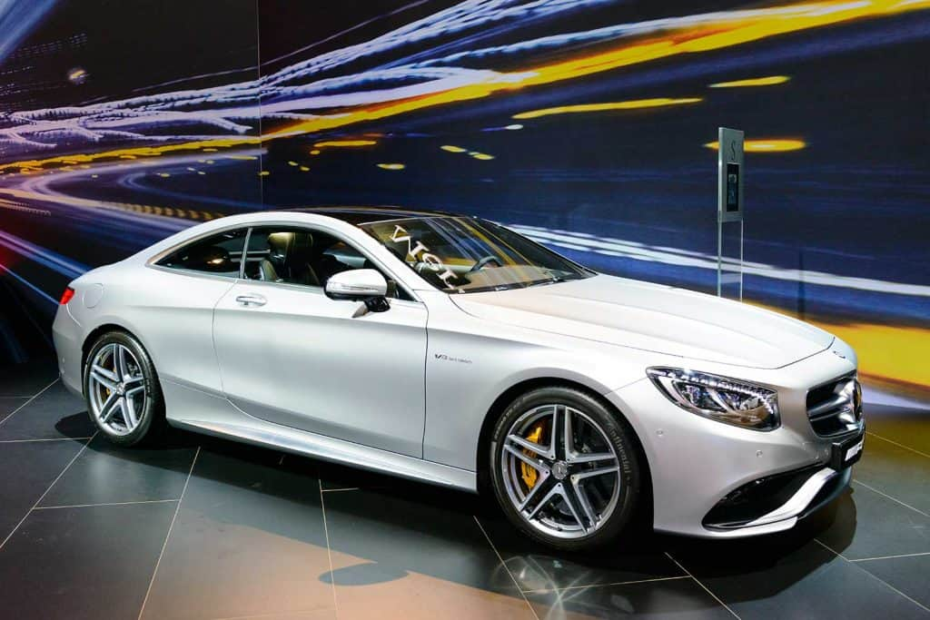 Mercedes-Benz S-Class S65 AMG coupe on display during motor show
