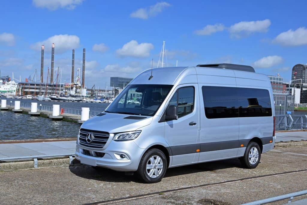 Mercedes-Benz Sprinter Tourer stopped on the street, Is The Mercedes Sprinter 4WD Or AWD?