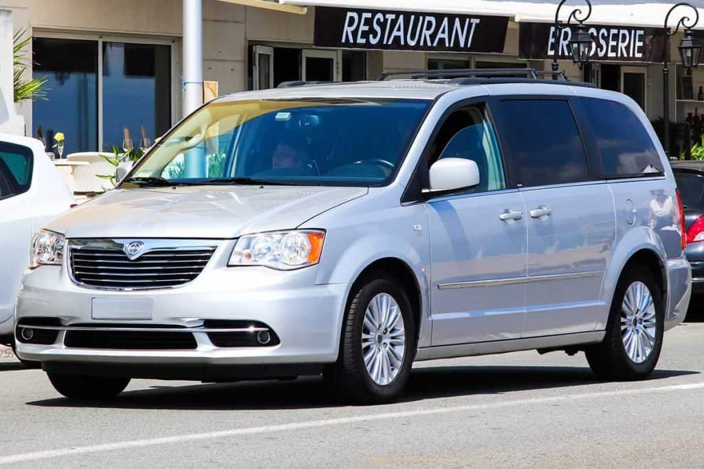 Passenger minivan Chrysler Voyager in the city street, Does The Chrysler Voyager Have AWD?