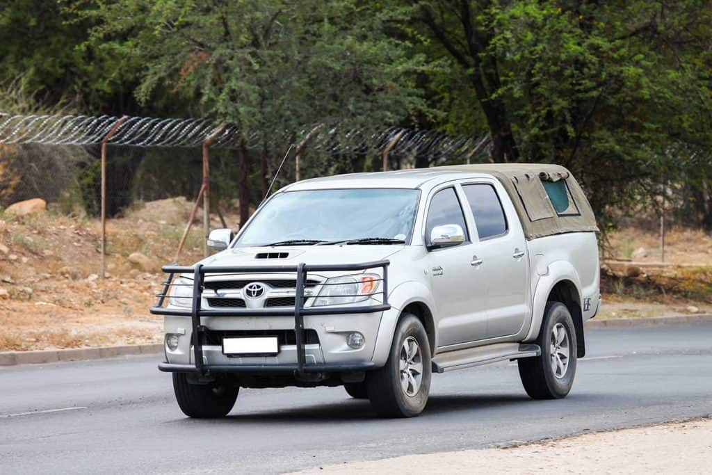 Pickup truck Toyota Hilux in the city street