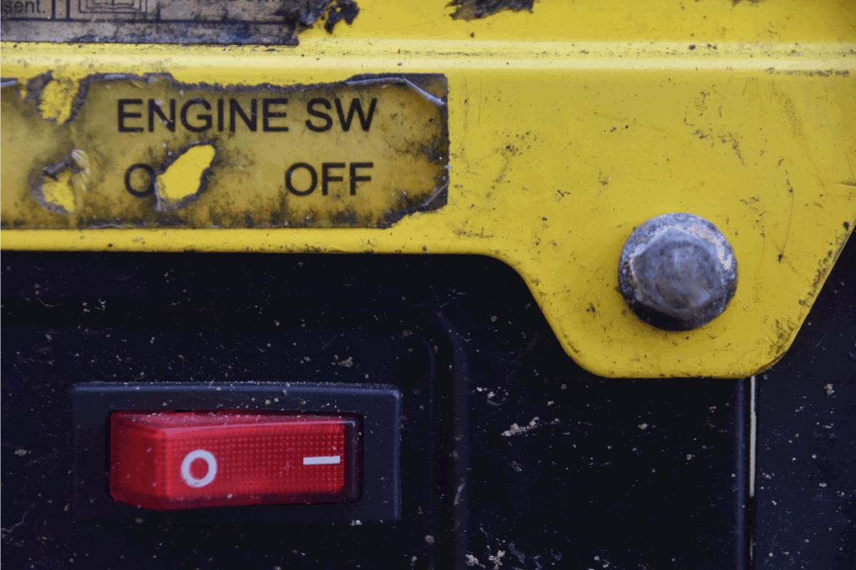Power button for portable generator