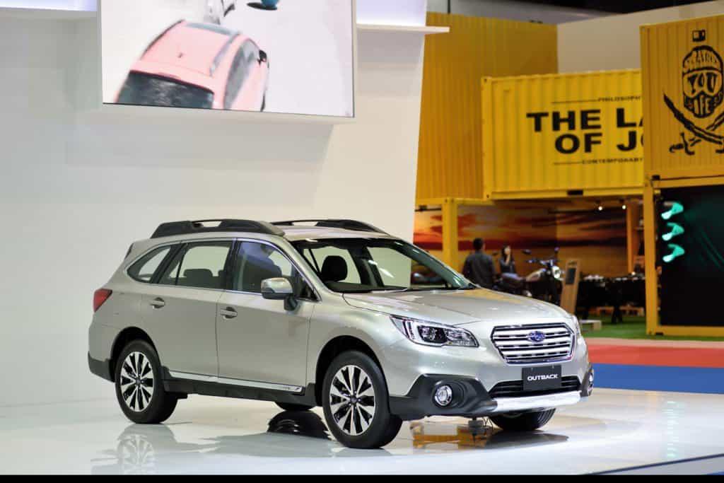 Subaru outback ,showed in an International Motor Show
