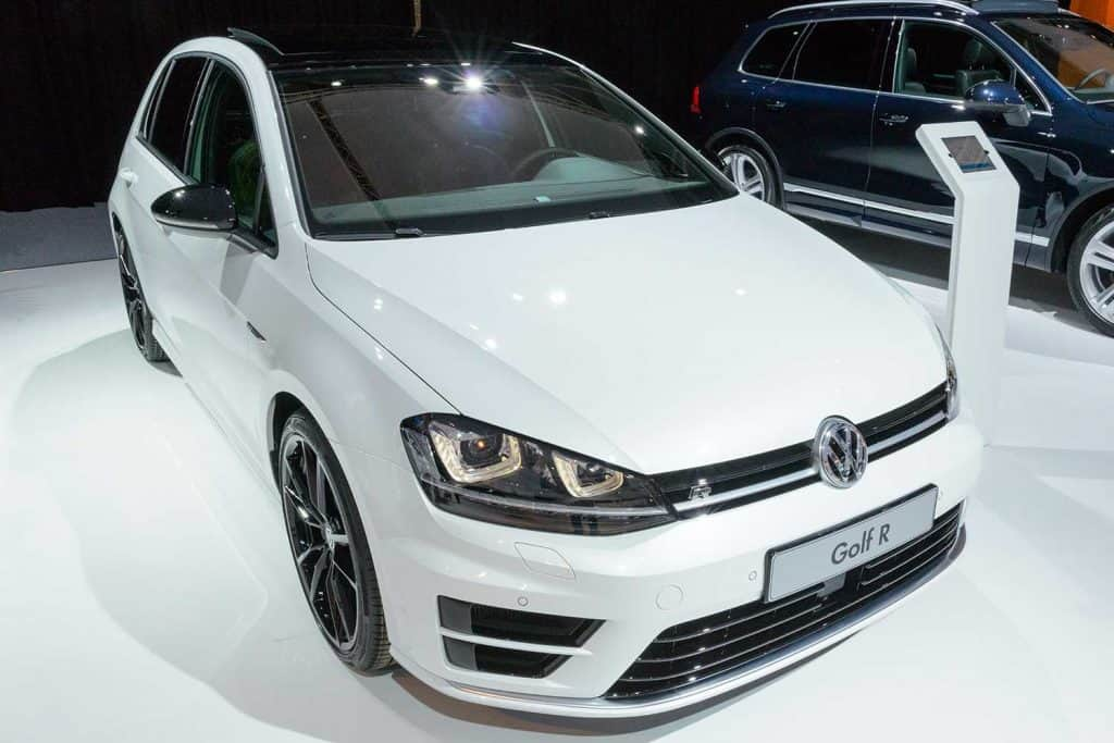 Volkswagen Golf R at the VW stand
