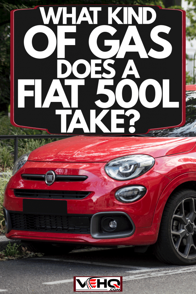 A red Fiat 500L on the side of the road, What Kind Of Gas Does A Fiat 500L Take?