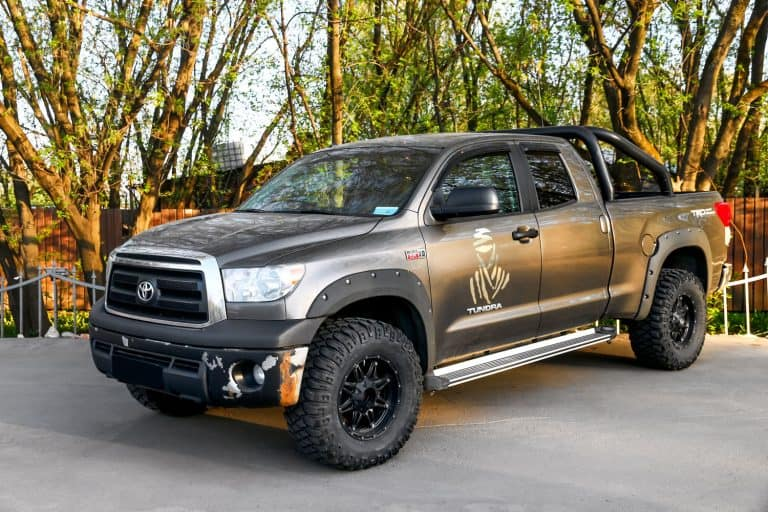 A heavily modified Toyota Tundra at a recreational park, Does A Toyota Tundra Have Heated Seats And Steering Wheel?
