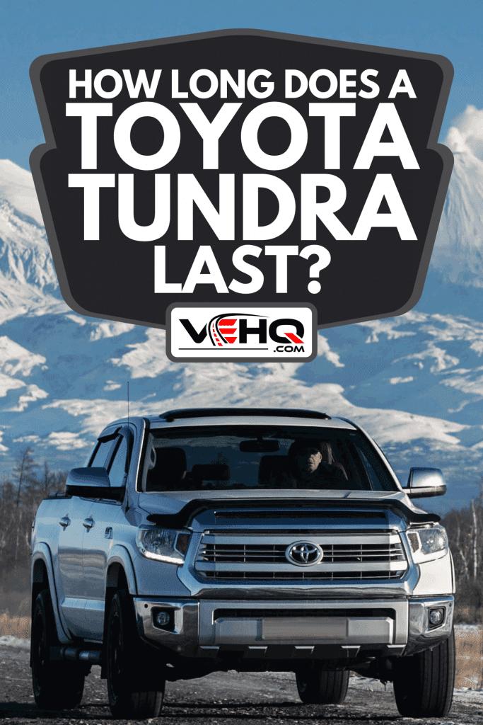 A SUV Toyota Tundra driving along road, How Long Does A Toyota Tundra Last?