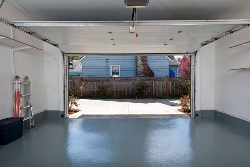 Interior of a clean garage