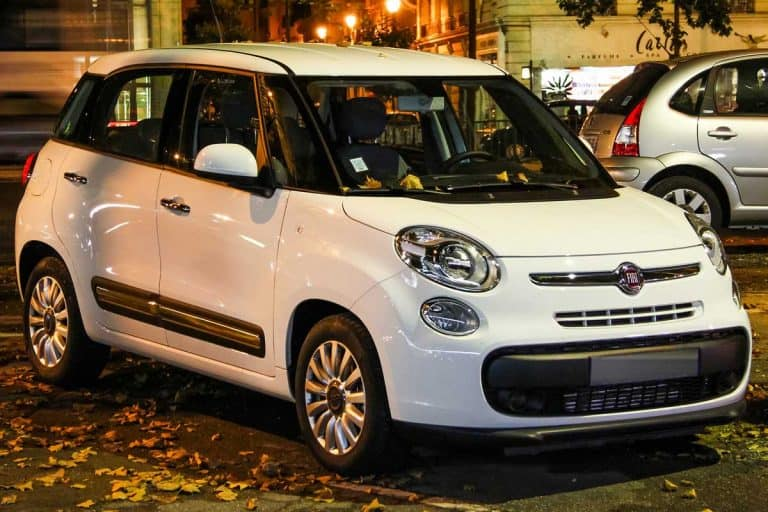 Motor car Fiat 500L is parked in the city street, Does The Fiat 500L Have Sat Nav And Uconnect?