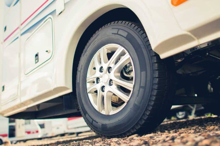 New tires for RV camper van, Should RV Tires Be Off The Ground?