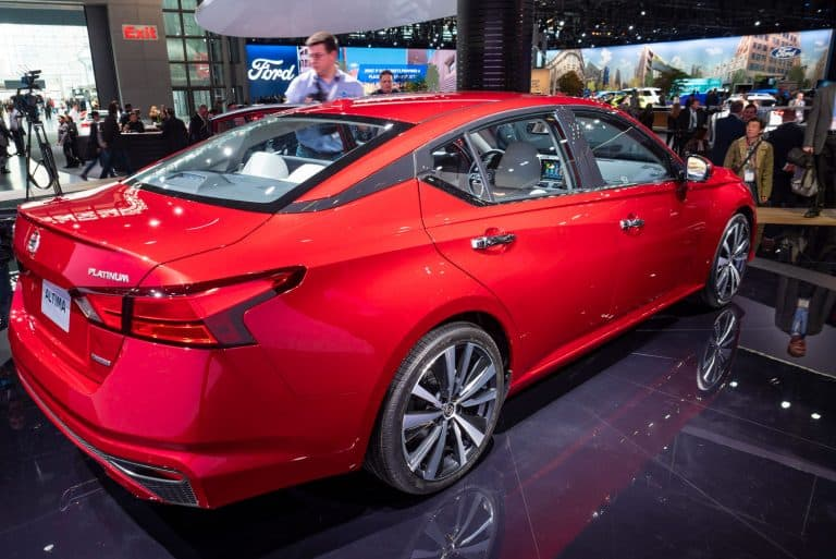 Nissan Altima on display during the 2018 New York International Auto Show held, Why Does My Nissan Altima Beep When I Open The Door?