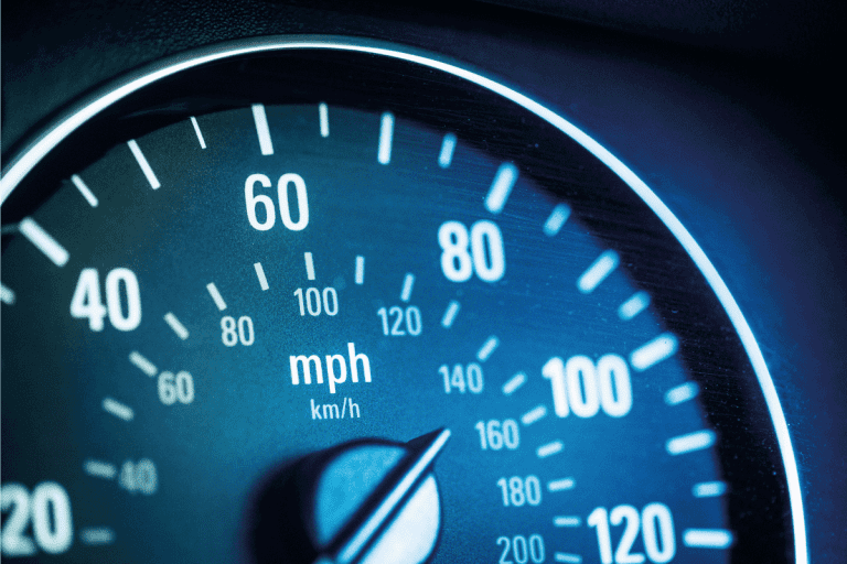 Speedometer close up of pickup not accelerating. Toyota-Tundra-Not-Accelerating—What-Could-Be-Wrong.png