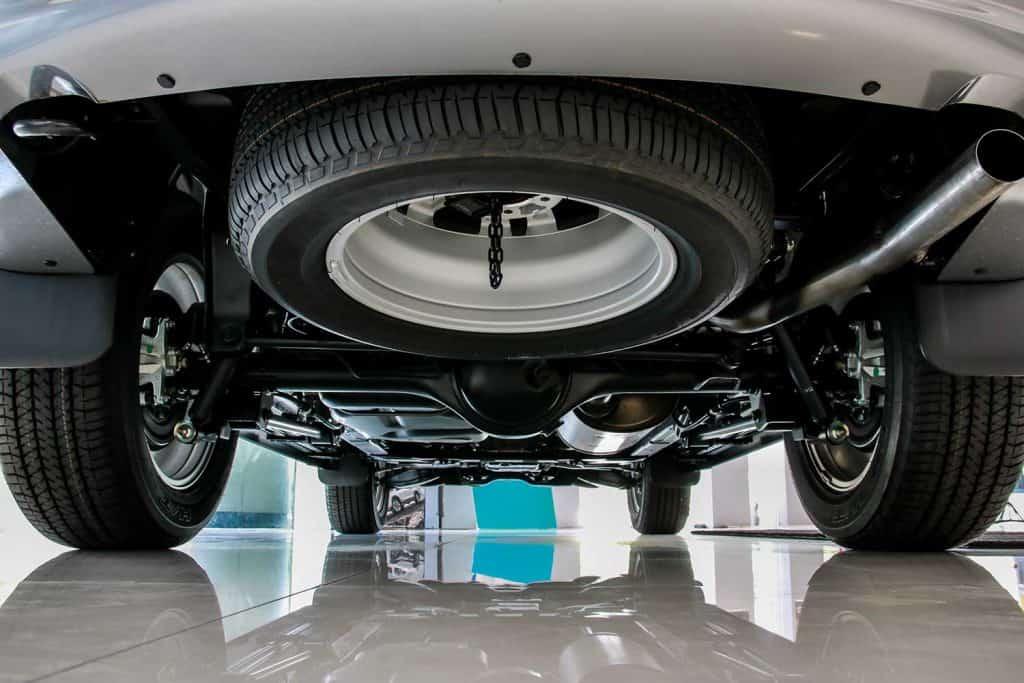 Suspension car and spare tire