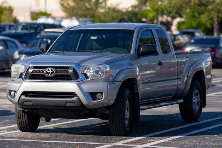 Toyota Tacoma pick up truck in a parking lot, Why Is My Toyota Tacoma Overheating?