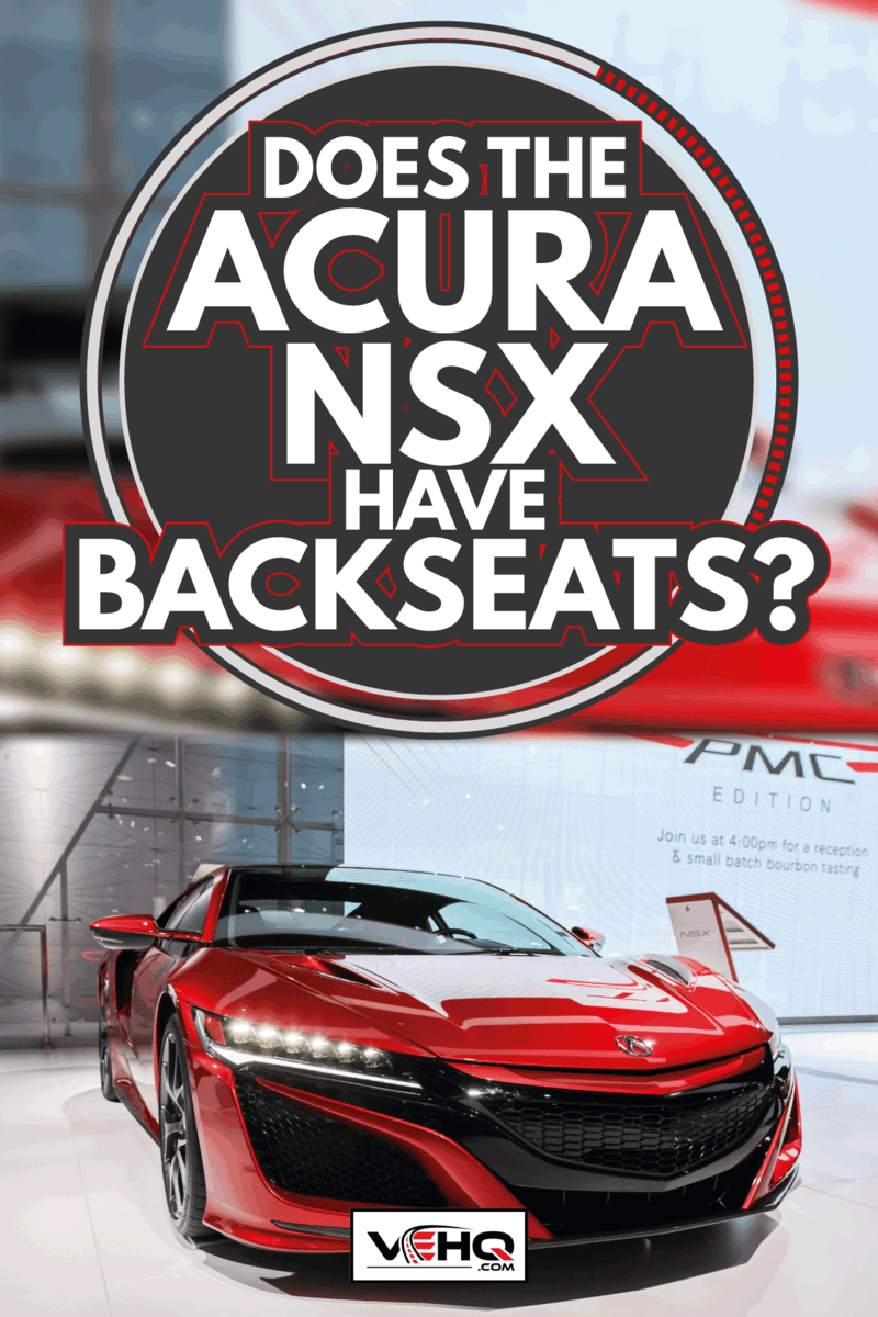 red Acura NSX on display at an international car show. Does The Acura NSX Have Backseats